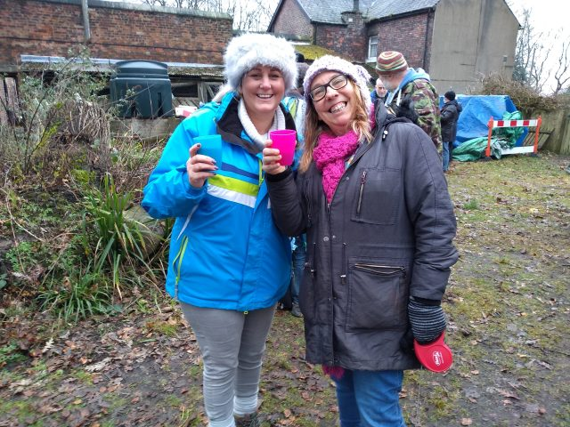 2 people at wassailing