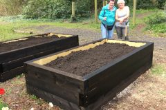 Creating the vegetable beds in April 2021 1